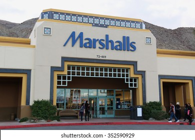 Palm Desert, California, USA - November 27, 2015: Marshalls, with over 750 conventional stores, is U.S.'s second largest off-price family apparel and home fashion retailer.