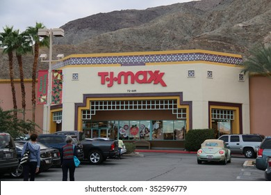 Palm Desert, California, USA - November 27, 2015: T.J. Maxx is an American department store chain and a major clothes retailer in the U.S.