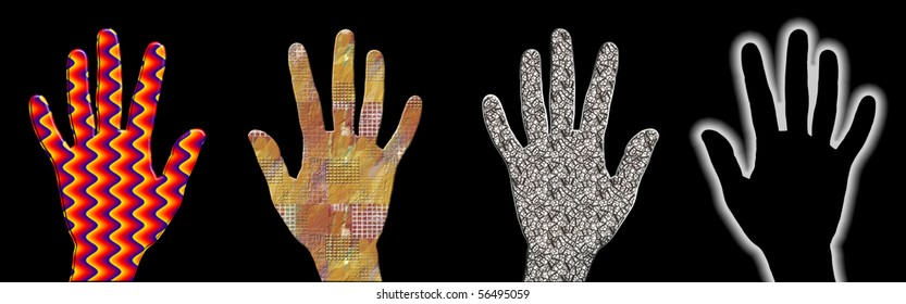 Palm of the hand texture