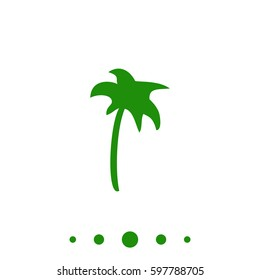 Palm Icon Illustration.  Flat green pictogram on white background