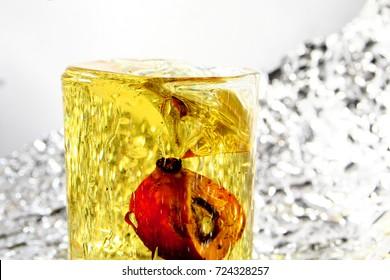 Palm oil background / Palm oil is an edible vegetable oil derived from the reddish pulp of the fruit of the oil palms