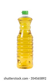 Palm oil in plastic bottle isolated on white background