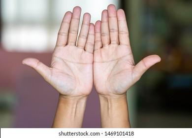 PALM READING PALMISTRY  ON  MAN HAND.