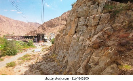 Palm Springs Aeriel Tramway Lower Tram Station Moving Up the Mountain in Palm Springs California