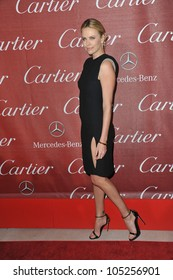 PALM SPRINGS, CA - JANUARY 7, 2012: Charlize Theron at the 2012 Palm Springs Film Festival Awards Gala at the Palm Springs Convention Centre. January 7, 2012  Palm Springs, CA