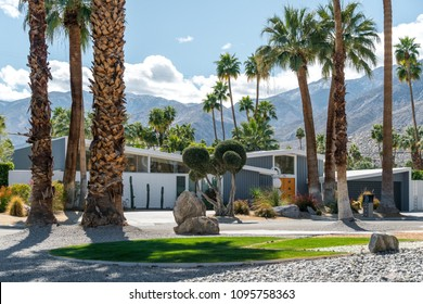 Palm Springs, California - March 2018: Residential Desert Architecture