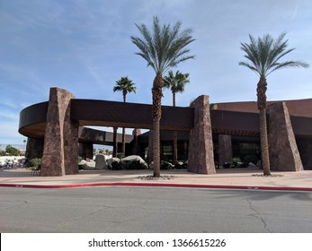 Palm Springs, California, United States - October 28, 2018: Palm Springs Convention Center.  The Palm Springs Convention Center is a 245,000 sq ft convention center located in downtown Palm Springs.
