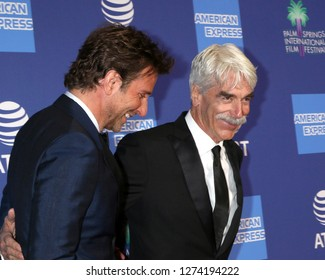 PALM SPRINGS - JAN 17:  Bradley Cooper, Sam Elliott at the 30th Palm Springs International Film Festival Awards Gala at the Palm Springs Convention Center on January 17, 2019 in Palm Springs, CA