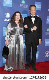 PALM SPRINGS - JAN 17:  Melissa McCarthy, Richard E Grant at the 30th Palm Springs International Film Festival Awards Gala at the Palm Springs Convention Center on January 17, 2019 in Palm Springs, CA