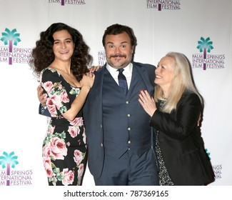 """PALM SPRINGS - JAN 3:  Jenny Slate, Jack Black, Jacki Weaver at the PSIFF """"The Polka King"""" Screening at Camelot Theater on January 3, 2018 in Palm Springs, CA"""