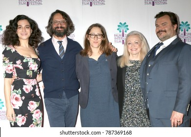 """PALM SPRINGS - JAN 3:  Jenny Slate, Wally Wolodarsky, Maya Forbes, Jacki Weaver, Jack Black at the PSIFF """"The Polka King"""" Screening at Camelot Theater on January 3, 2018 in Palm Springs, CA"""