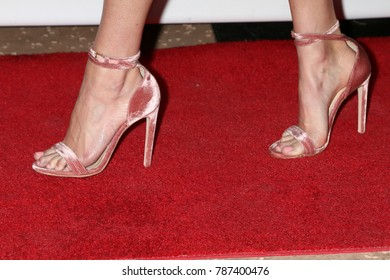 """PALM SPRINGS - JAN 3:  Jenny Slate shoe detail at the PSIFF """"The Polka King"""" Screening at Camelot Theater on January 3, 2018 in Palm Springs, CA"""