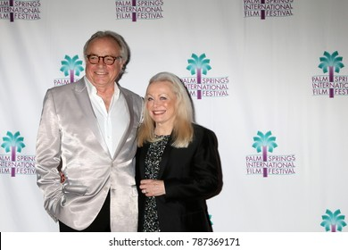 """PALM SPRINGS - JAN 3:  Sean Taylor, Jacki Weaver at the PSIFF """"The Polka King"""" Screening at Camelot Theater on January 3, 2018 in Palm Springs, CA"""