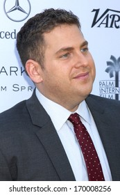 PALM SPRINGS - JAN 5:  Jonah Hill at the Variety's Creative Impact Awards And 10 Directors to Watch Brunch at Parker Palm Springs on January 5, 2014 in Palm Springs, CA