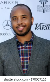 PALM SPRINGS - JAN 5:  Justin Simien at the Variety's Creative Impact Awards And 10 Directors to Watch Brunch at Parker Palm Springs on January 5, 2014 in Palm Springs, CA