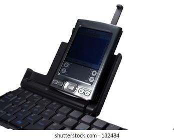 Palm with wireless keyboard
