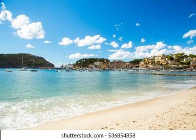 Palma de Mallorca, beach and mountains