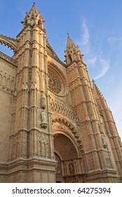 Palma de Mallorca gothic cathedral (Spain)