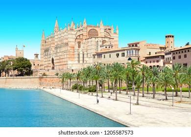 Palma de Mallorca Spain cathedral church