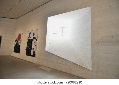 PALMA DE MALLORCA, SPAIN - CIRCA JULY 2017: Fundacio Joan Miro (meaning Miro Foundation)