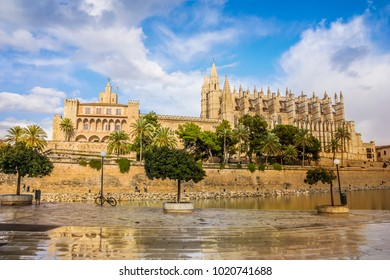 Palma de Mallorca, Spain. Gothic Cathedral of Santa Maria.