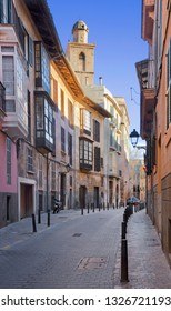 Palma de Mallorca - The street of old town in morning light.