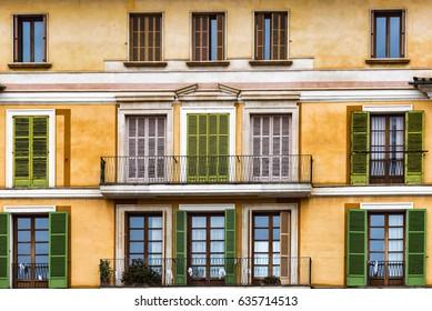 Palma de Mallorca- typical architecture from Square major