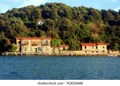 Palmaria Island and buildings view from the boat