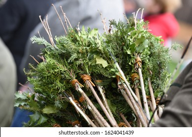 Palmbuschen - ranches of pussy willow which are bound together, decorated and consecrated on the Feast of Palm Sunday.