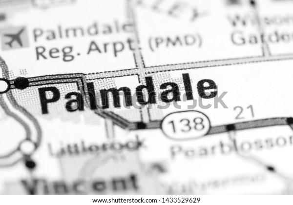 Palmdale California Usa On Map Stock Photo (Edit Now) 1433529629