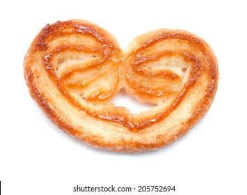 palmera, palmerita - sweet dry crunchy puff pastry biscuit