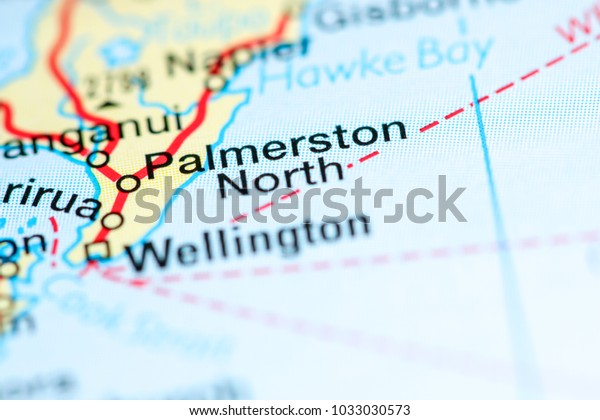 Map Of Palmerston North New Zealand.Palmerston North New Zealand On Map Stock Photo Edit Now