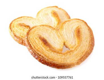 Palmiers, puff pastry cookie