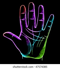 palmistry, fortune telling with lines on hand