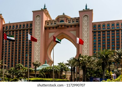 THE PALMS, DUBAI, UAE-20th SEPTEMBER 2017:-The Palms Atlantis is a 7 star hotel situated on the edge of the Palms a man made, reclaimed suburb of Dubai