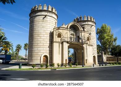 Palms Gate, Monument roundabout  (Puerta de Palmas, Badajoz), Spain