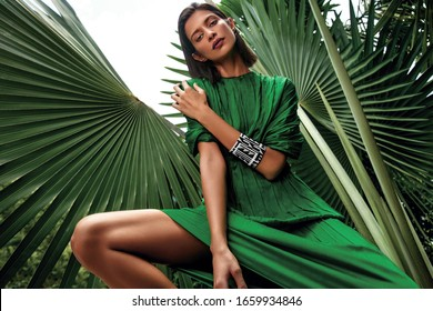 Palms luxury model natural background