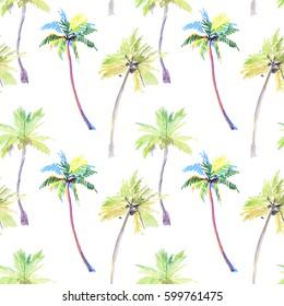 Palms seamless pattern. pattern tropical, palm trees