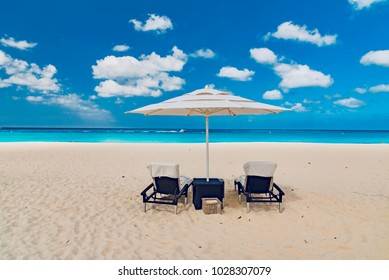 palms and turquoise sea of the Caribbean for a luxury and relaxing holiday on the island of Aruba in winter in the most beautiful beach of the Antilles