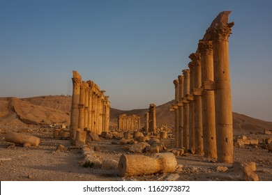 Palmyra -  the desert ruins of the ancient Aramaic city in Syria