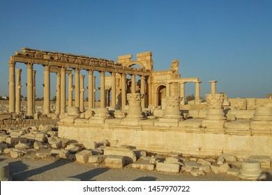 Palmyra, Homs Governorate, Syria. July 31st 2010. The ruins of the ancient city before the war in the middle of the Syrian desert.