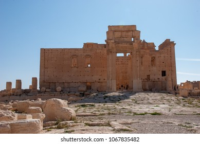 Palmyra / Syria - April 6, 2009 : Temple of Bel one of the most important ruins of Palmyra dating to 2nd century AD. It had been destroyed because of the Syrian Civil War