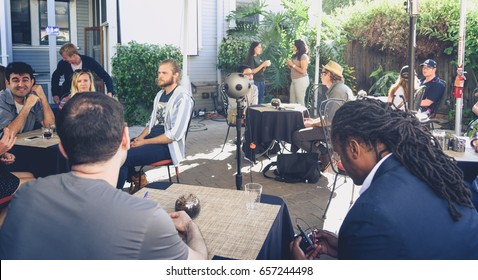 PALO ALTO, CA - JUNE 4: Nokia OZO 360-degree video camera on set to shoot a short film at Garage Stories VR Hackathon in Silicon Valley on June 4, 2017.