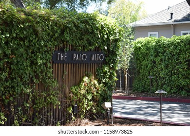 Palo Alto, CA, USA; August 2018: Palo Alto is a charter city in the northwest corner of Santa Clara County. Palo Alto means tall tree in Spanish, the city is named after a coastal redwood tree.