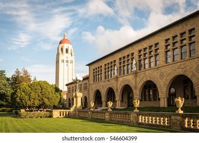 Palo Alto, California United States March 19, 2016: Stanford University Main Quad