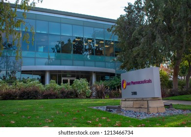 Palo Alto, California, USA - October 26, 2018: The office of Jazz Pharmaceuticals in Silicon Valley. Jazz Pharmaceuticals is an Ireland-based biopharmaceutical company.