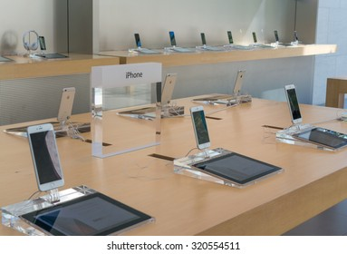 PALO ALTO, CA/USA - JUNE 28: Apple iPhone 6 on display in Apple store on June 28, 2015 in Palo Alto, CA, USA. It is the latest smartphone manufactured by Apple Inc.
