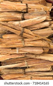 palo santo wood chips of sacred tree used as incense in Latin America