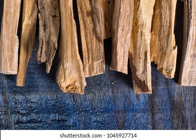 palo santo wood closeup in Ecuador