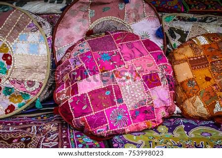 Palolem Goa India 10282017 Colorful Handicrafts Stock Photo Edit